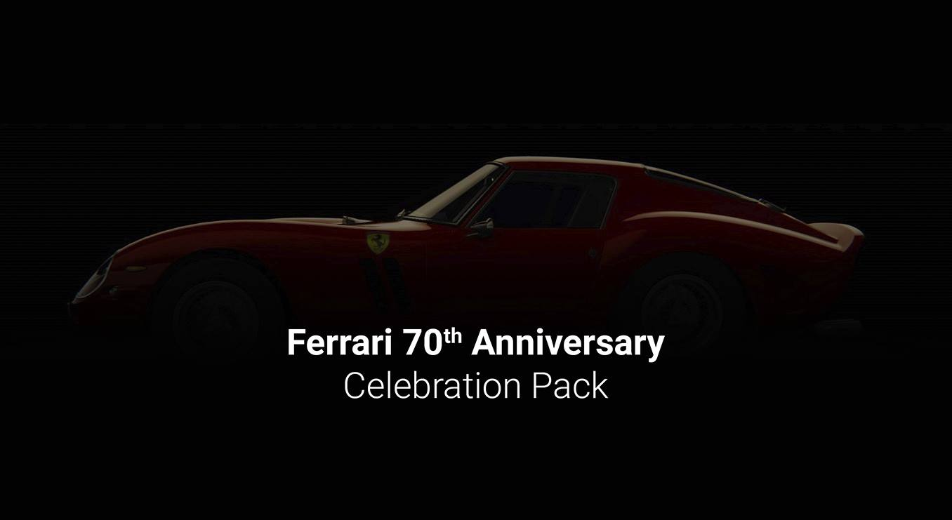 Ferrari 70th celebration pack